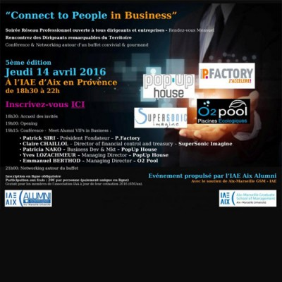 14 avril : 5e Connect To People in Business