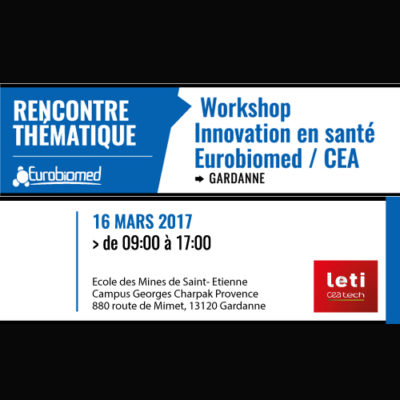 16 mars :  Workshop Innovation en santé