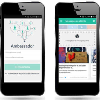 Sociallymap lance son application mobile Ambassador