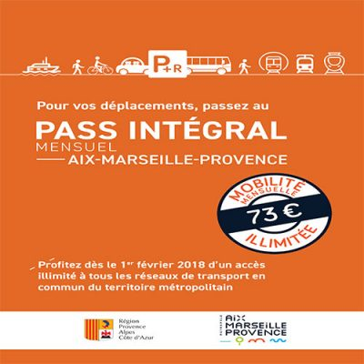 Pass intégral Mensuel Aix-Marseille Provence